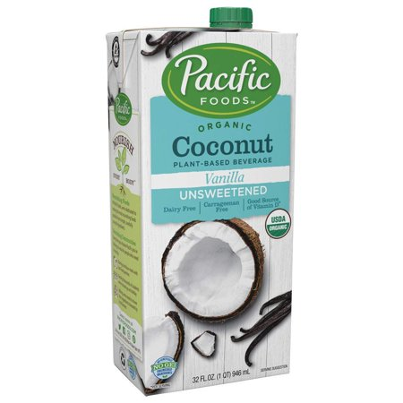 Pacific Foods Organic Coconut Milk Unsweetened Vanilla Plant-Based Beverage, 32