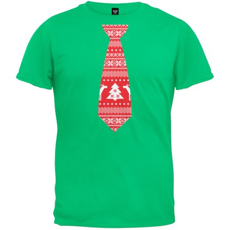 Ugly Christmas Sweater Tie Green Adult - Ugly Sweater Idea
