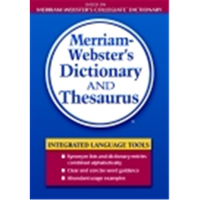 Merriam-Webster Dictionary And Thesaurus, Paperback