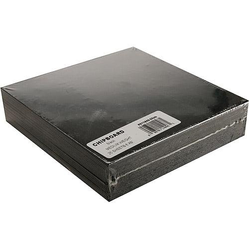 "Grafix Medium Weight Black Chipboard Sheets, 6"" x 6"