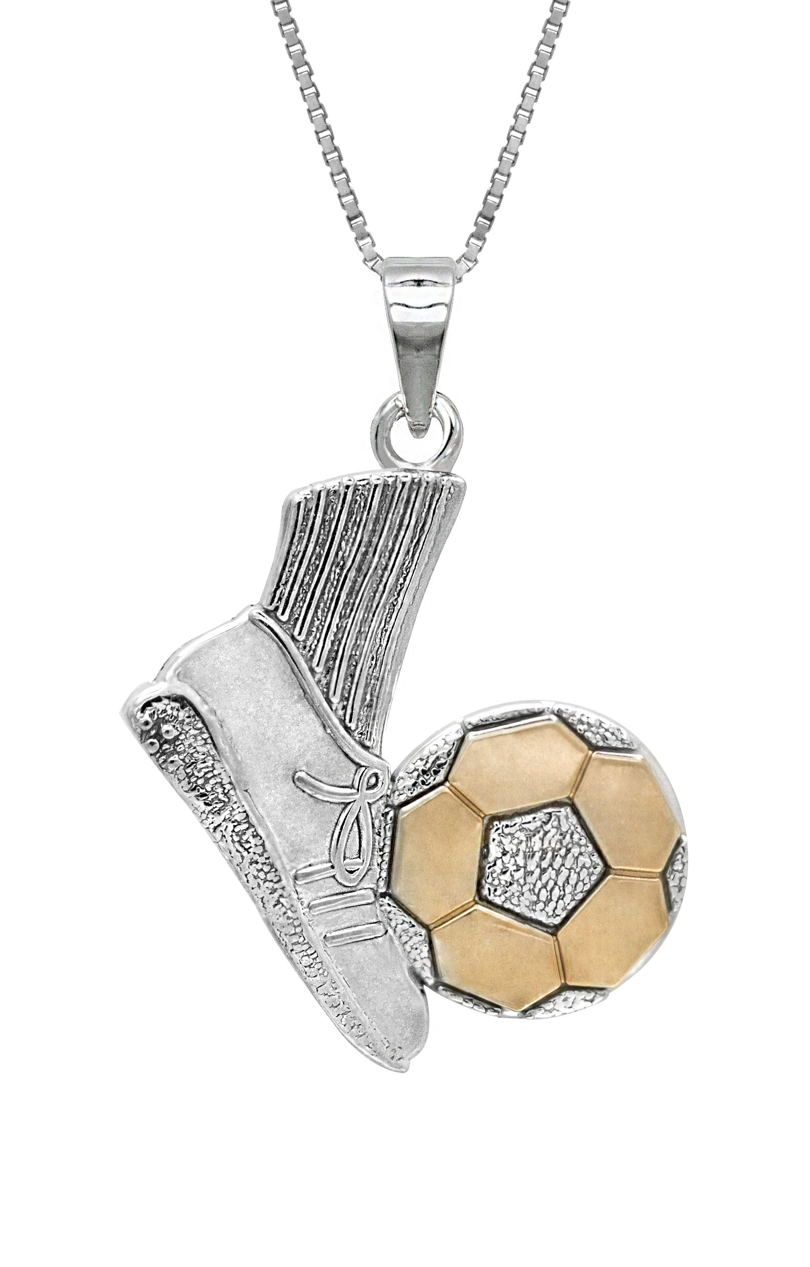 ships manufacturer sterling silver boys soccer catholic the from company pendant this directly item
