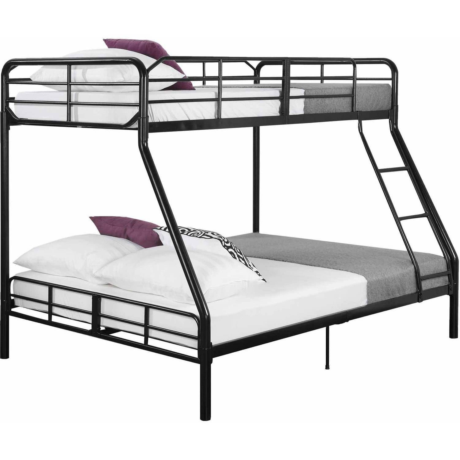 Mainstays Twin Over Full Metal Sturdy Bunk Bed Black Walmart Com