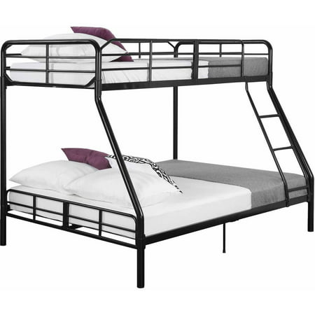 Mainstays Twin Over Full Bunk Bed With 2 Mattresses Walmart Com
