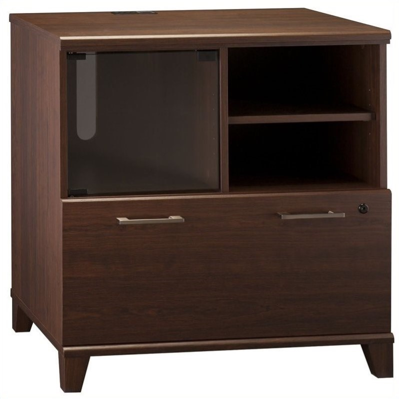 Pemberly Row 1 Drawer Lateral File Cabinet in Sweet Cherry