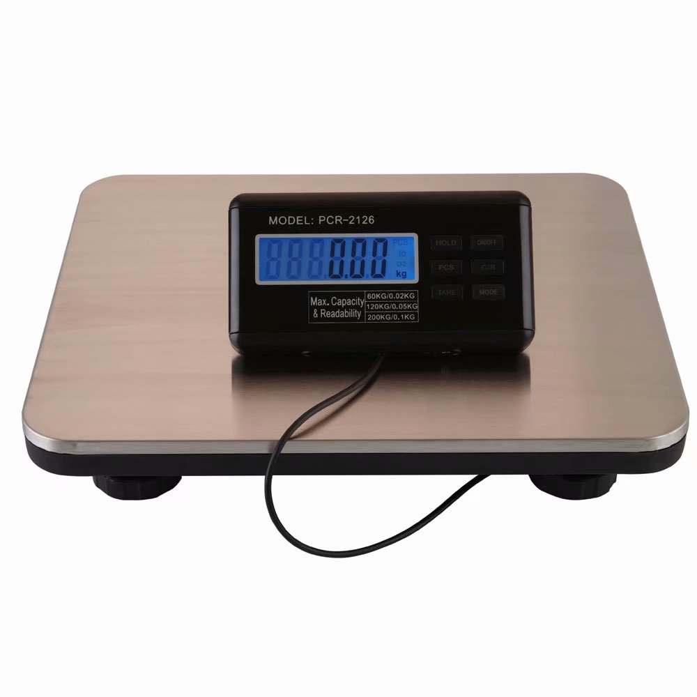 Digital Heavy Duty Shipping and Postal Scale with Durable Stainless Steel Large Platform, 300kg Capacity x... by