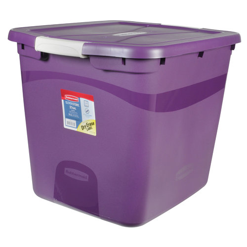 Rubbermaid 21-Gal Clever Store Container, Purple