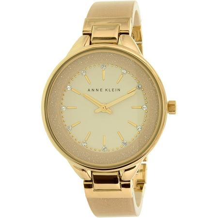 Women's AK-1408CRCR Gold Plastic Analog Quartz Fashion Watch
