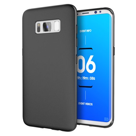 differently da479 30ee2 Galaxy S8 Plus Case, Cimo [Matte] Premium Slim Protective Cover for Samsung  Galaxy S8 Plus - Black