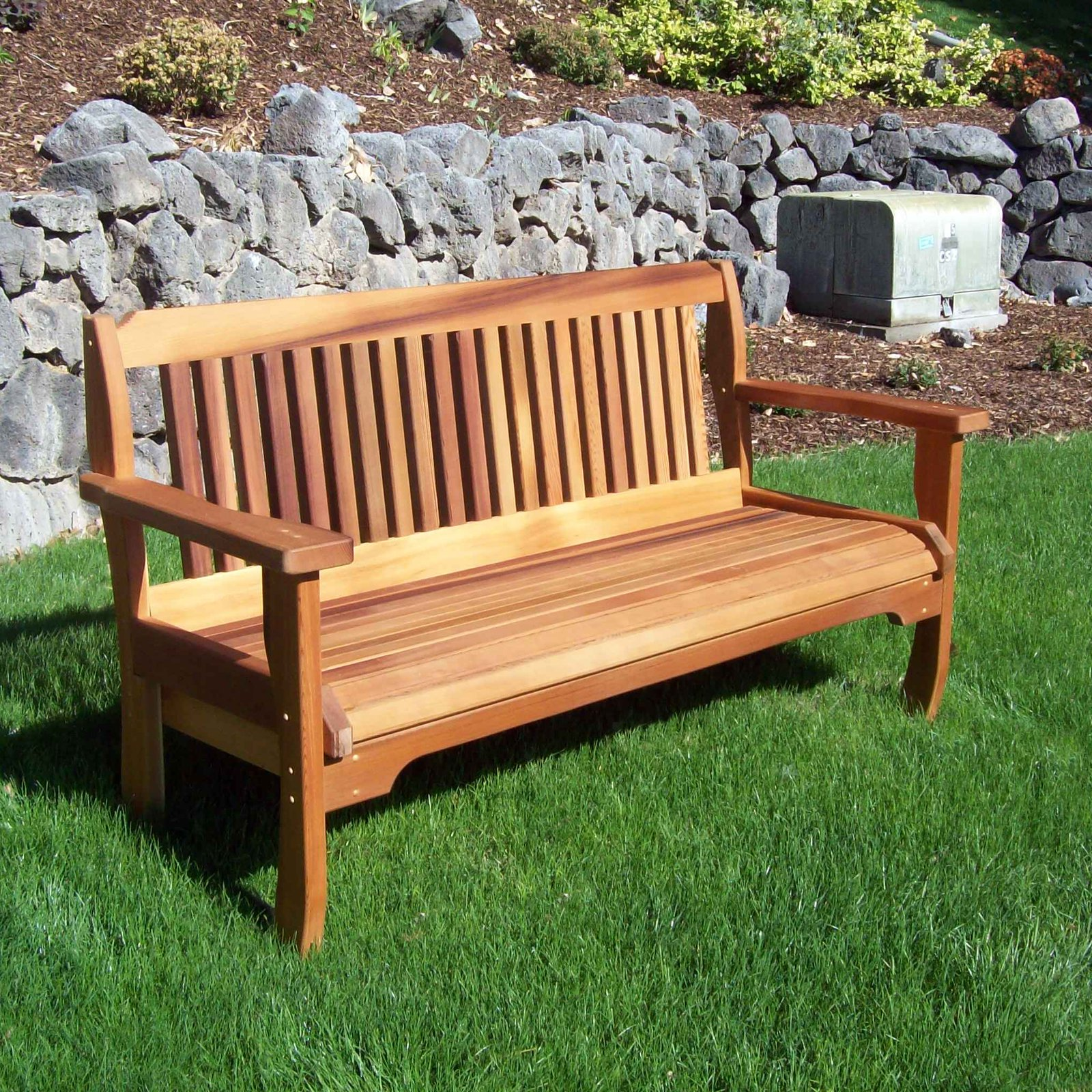 Wood Country Cabbage Hill Solid Cedar Garden Bench by Wood Country