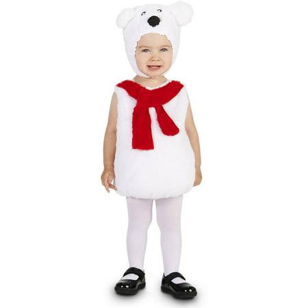 Polar Bear Child Halloween Costume - Polar Bear Kids Costume