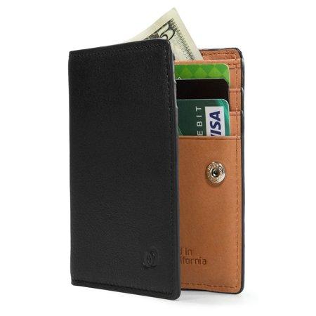 99b497d1b98 Multi Card Slim Bifold Genuine Leather Men Travel Wallet Pocket Holder