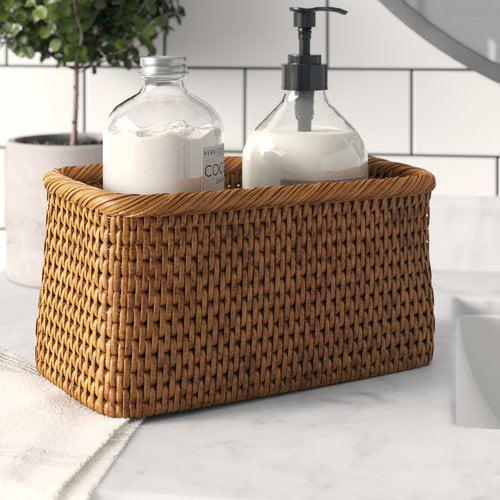 Greyleigh Albin Rattan Rectangular Basket