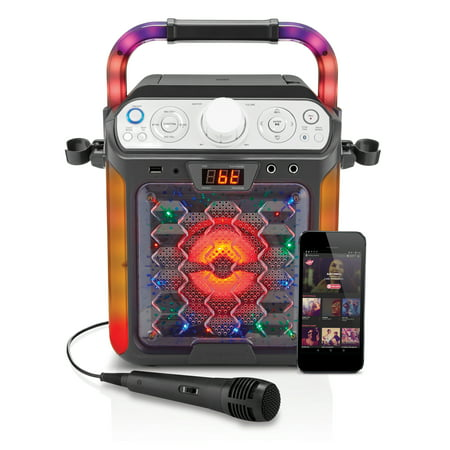 Singing Machine Karaoke Cube Multi-function Karaoke System with dancing (Best Karaoke System Setup)