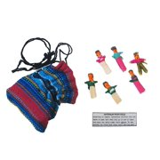 Guatemalan Worry Dolls in a Bag