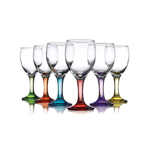 Carnival Color Wine Glasses Set Of 6 10 Ounce From Home Essentials by Home Essentials and Beyond