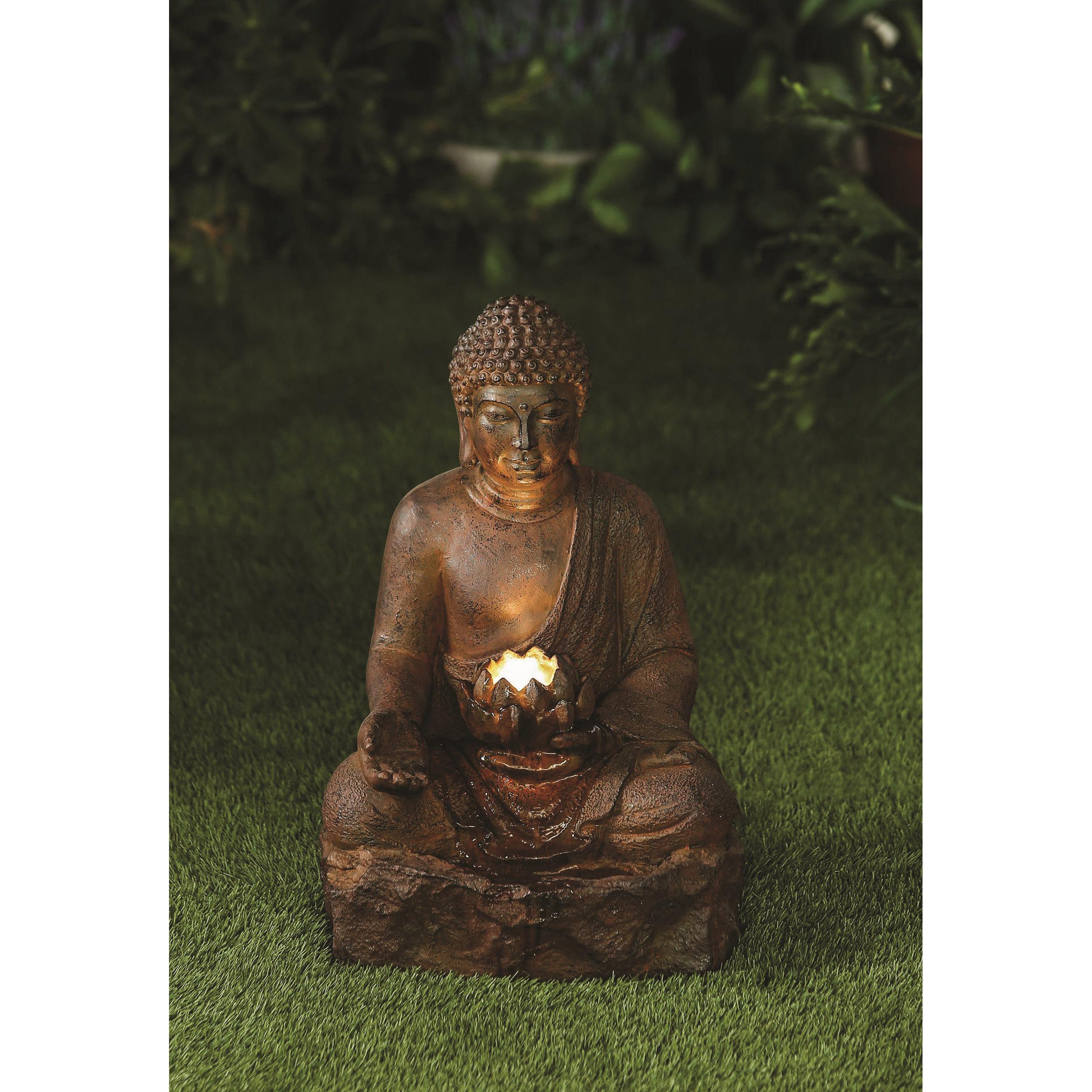 Rusty Buddha with LED Light