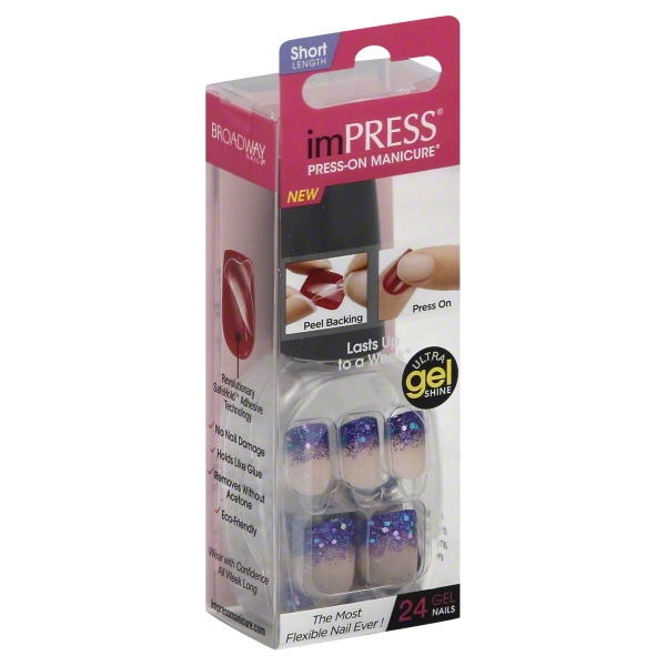 Kiss Products Impress  Press-On Manicure, 24 ea