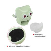 Safe Handheld Manual Pencil Sharpener Single-hole Sharpeners School Supplies for Pupils Kids Cute Owl Shape Green