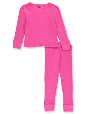 Ice2O Little Girls' 2-Piece Thermal Long Underwear Set (Sizes 4 - 6X) - off white, 5-6