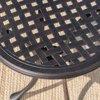 "Leo Outdoor 19"" Cast Aluminum Side Table, Bronze"