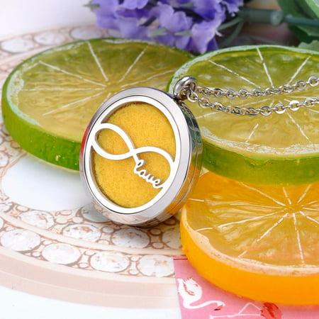 Infinite Love Essential Oil Diffuser Aromatic Perfume Jewelry Necklace Locket