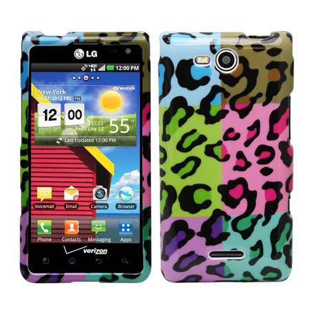 Fosmon Crystal Hard Protector Case Cover for LG Lucid 4G (Colorful Leopard)