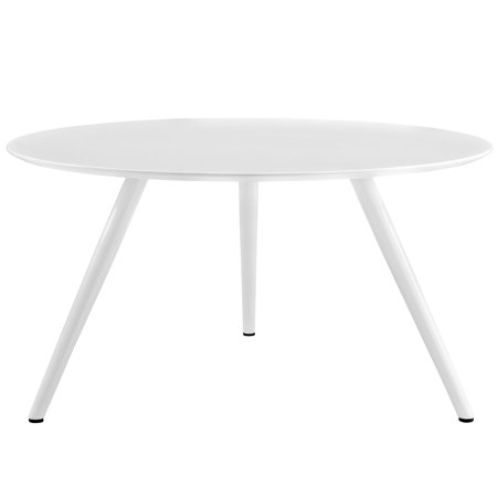Modern Contemporary Urban Design Mid Century Kitchen Room Round Top Dining Table, White, Wood