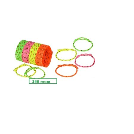 288 Neon Friendship Rope Bracelets ~ Birthday Party Favors ~ Summer Camps~ Halloween Trick or Treat ~ Easter Basket Fillers ~ Goody Bags ~ BFF New, 288.., By Mixed](Neon Bracelets And Necklaces)