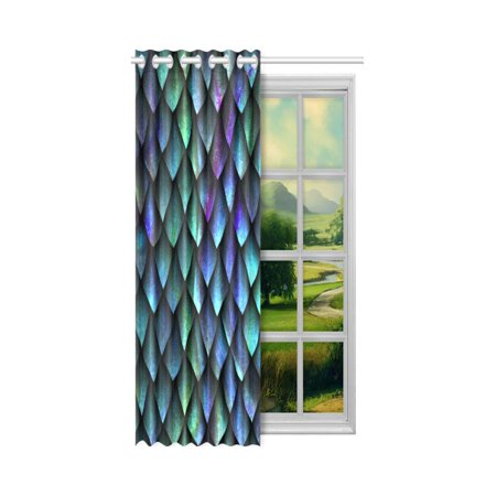 Yusdecor Dragon Scales Blackout Window Curtain Drapes Bedroom Living Room Kitchen Curtains 52x84 Inch Walmart Canada