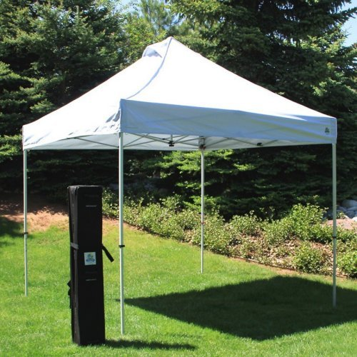 UnderCover 10 x 10 Super Lightweight Aluminum Instant Canopy with Sidewall Enclosure