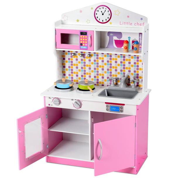 Topbuy Kids Chef S Pretend Kitchen Cooking Toy Play Set For Toddler Walmart Com Walmart Com