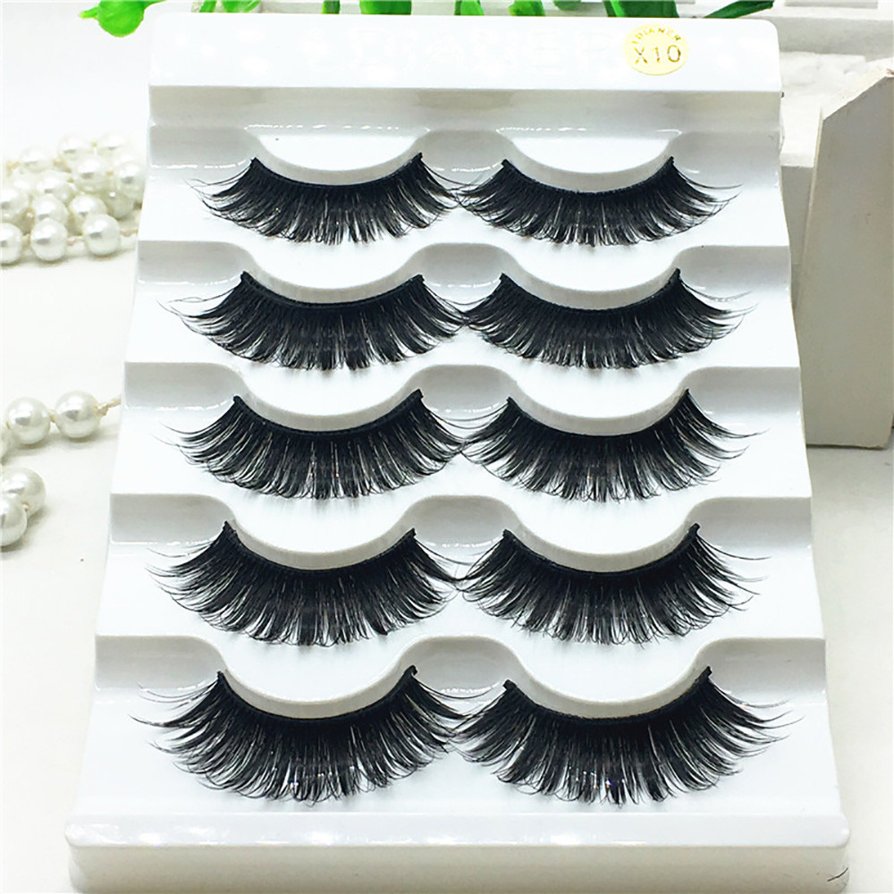 Outtop 1 Box Luxury 3D False Lashes Fluffy Strip Eyelashes Long Natural Party