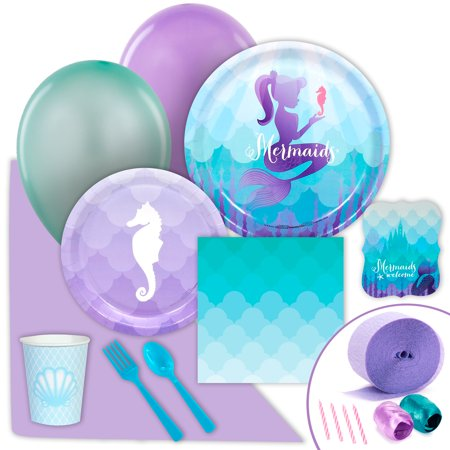 Mermaids Under the Sea Party Supplies - Value Party Pack - The Little Mermaid Party Theme