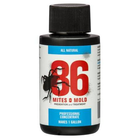 86 Mites and Mold 2 oz Mini Concentrate (Makes 1 Gallon) (12/Cs) (Mold Mites)