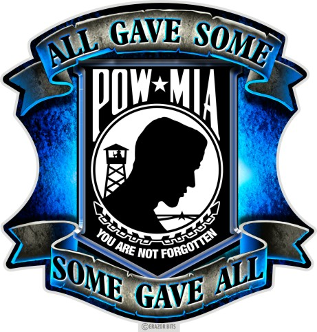 2Bhip SET OF 2 POW MIA All Gave Some Some Gave All 12 Inc...