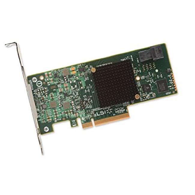 LSI Logic H5-25473-00 9300-4i SGL SAS 4Port 12Gbs PCI-Express 3.0 HBA Brown Box Controller Card