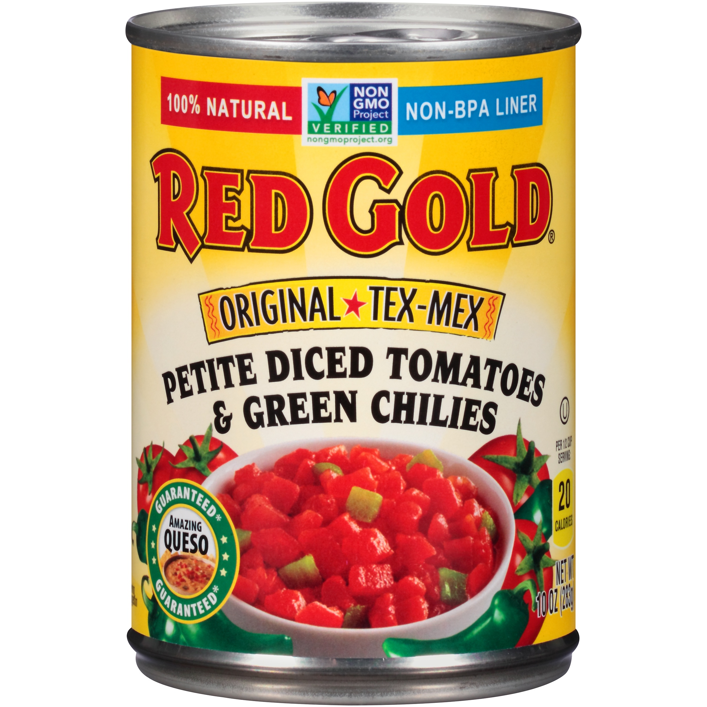 Red Gold Original Tex-Mex Petite Diced Tomatoes & Green Chilies, 10 oz