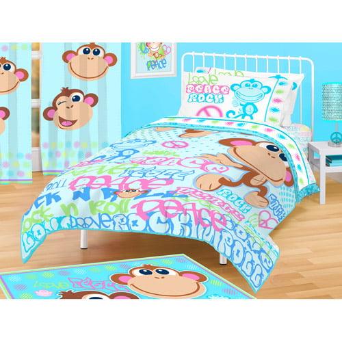American Kids Monkey Comforter, Twin/Full