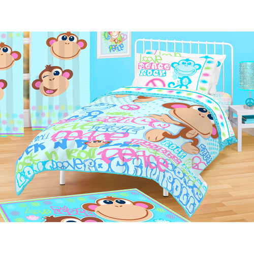 American Kids Monkey Comforter, Twin/Full