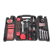 136 Pcs Home Tool Kit, YOFE Hand Tools Set, Auto Mechanics Hand Tool Set with Tool Storage Case, General Household Hand Tool Kit, Home Repair Basic Tool Kit Sets for Home Maintenance, Red/Black, R3656