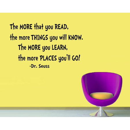 Decal ~ The MORE that you READ #2:  WALL  DECAL, Dr. Seuss Theme HOME DECOR 13