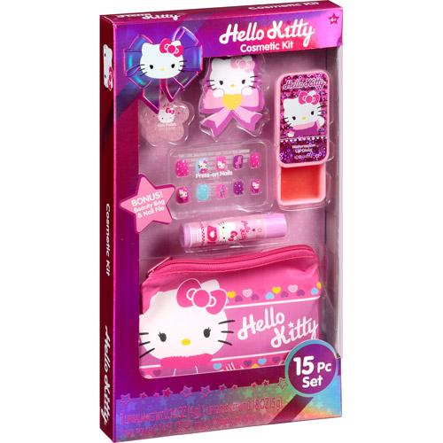 Hello Kitty Cosmetic Kit, 15 pc