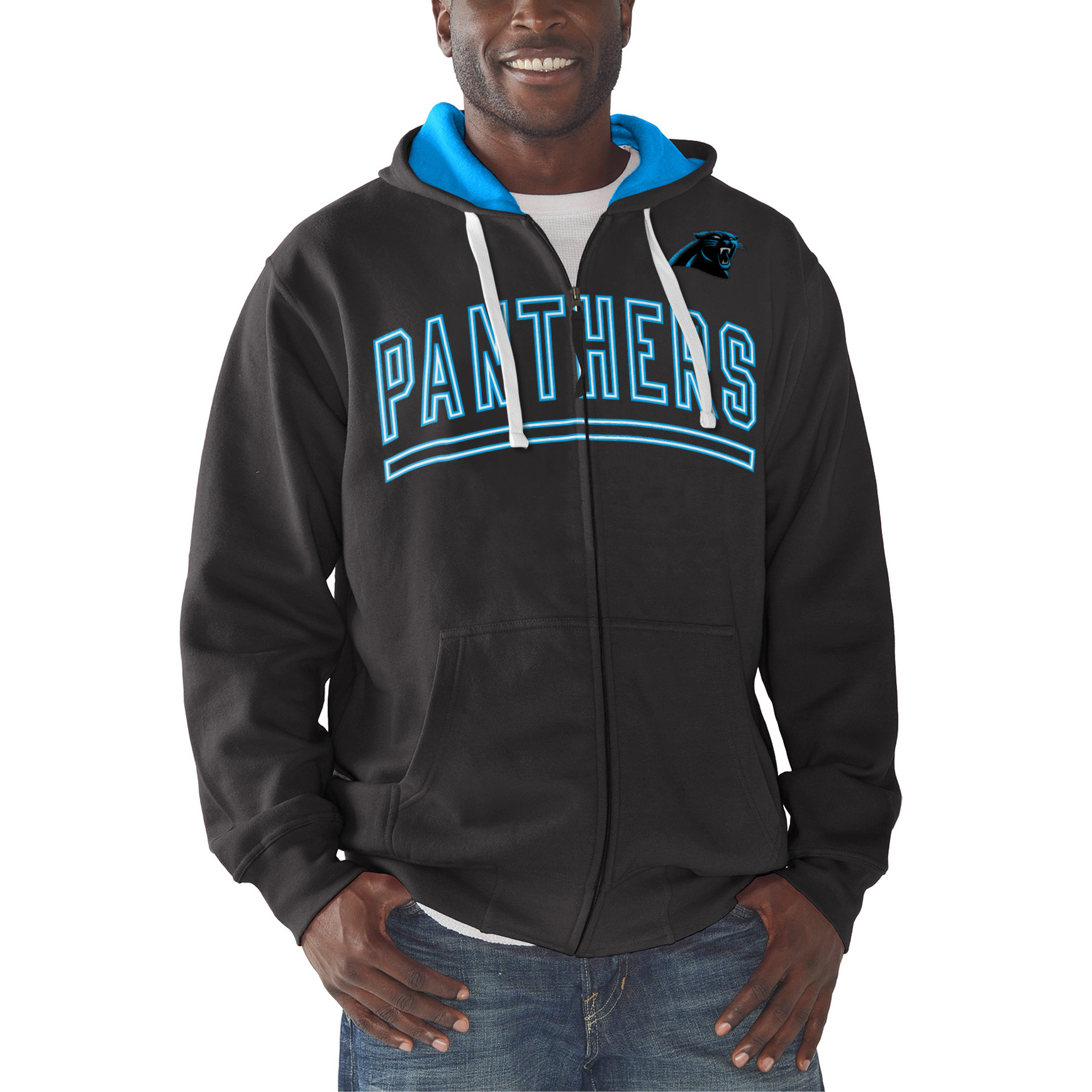 Carolina Panthers G-III Sports by Carl Banks Audible Full-Zip Fleece Hoodie - Black