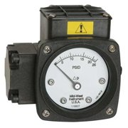MIDWEST INSTRUMENT 142-AA-00-O(AA)-50H Pressure Gauge,0 to 50 In H2O