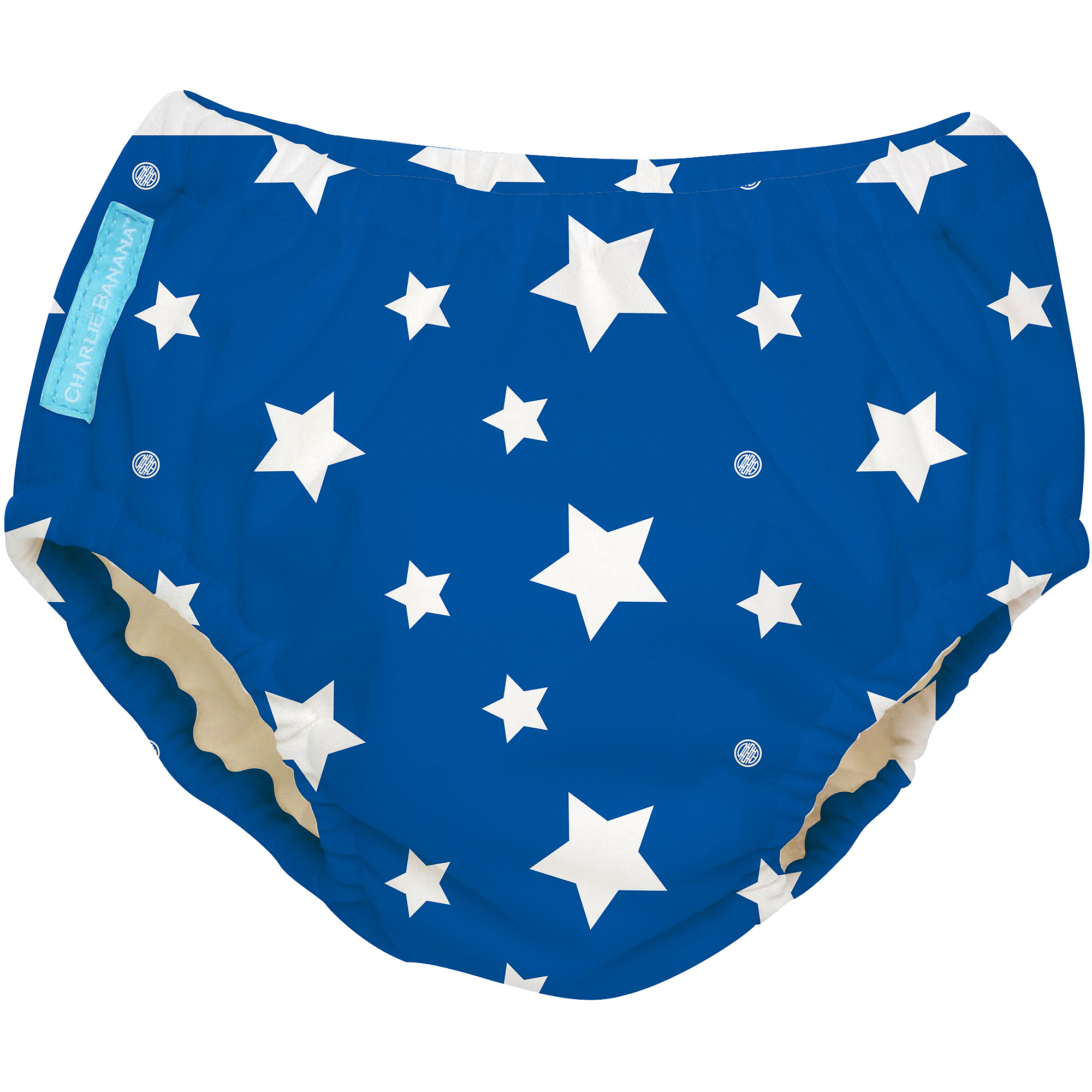 Charlie Banana Extraordinary Swim Diaper, White Stars on Blue