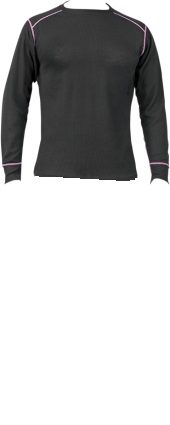 RU Outside Thermolator Performance Womens Base Layer Top Black Pink by RU Outside