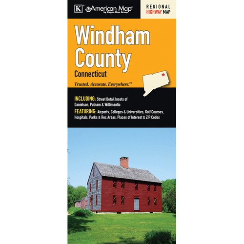 Universal Map Windham County Connecticut Fold Map