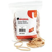 Universal Rubber Bands, 245 Bands/0.25 lb Pack (Set of 4)