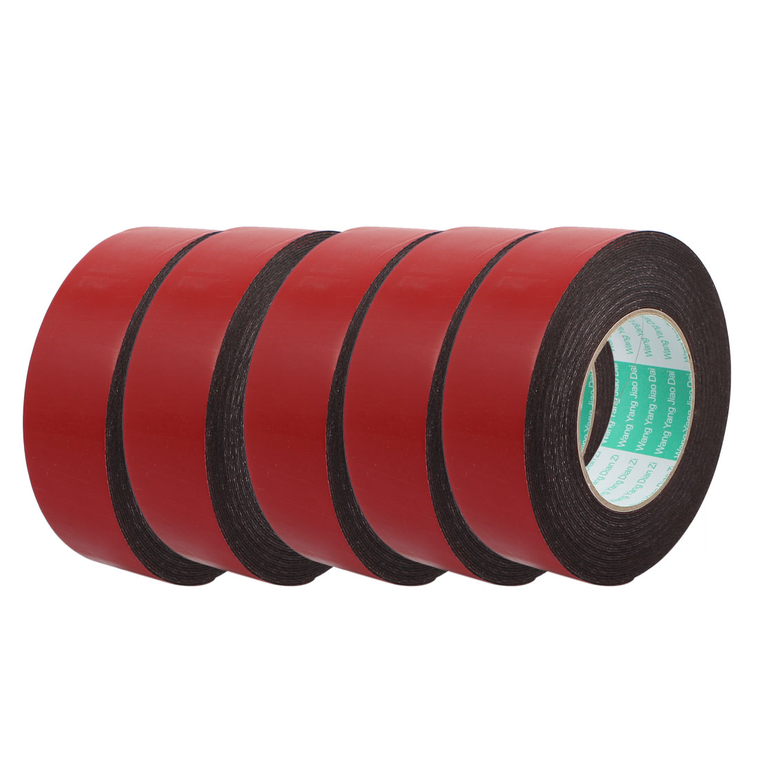 5Pcs 40mm x 1mm Single Sided Self Adhesive Shockproof Sponge Foam Tape 10M Red