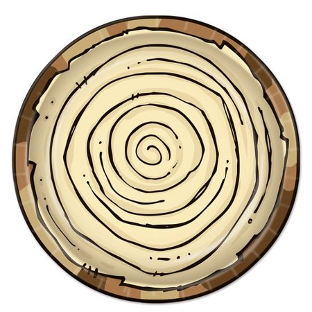 The Beistle Company Woodland Friends 9'' Salad Plate ()